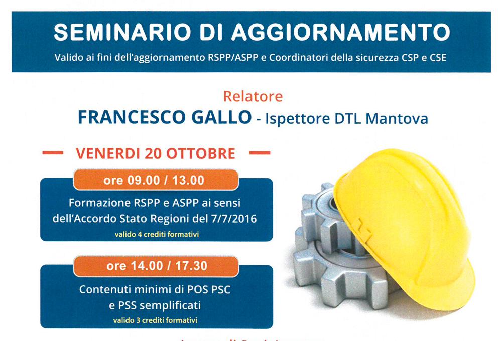 Venerdì 20 Ottobre SEMINARIO DI AGGIORNAMENTO SAP